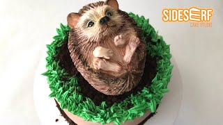 Making A Cute Simple Hedgehog CAKE