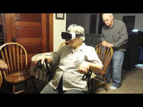 87 year old Grandma Tries Virtual Reality Headset
