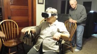 87 year old grandma tries virtual reality headset