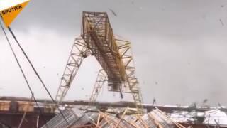 Massive Twister Tears Through Russia's Syktyvkar
