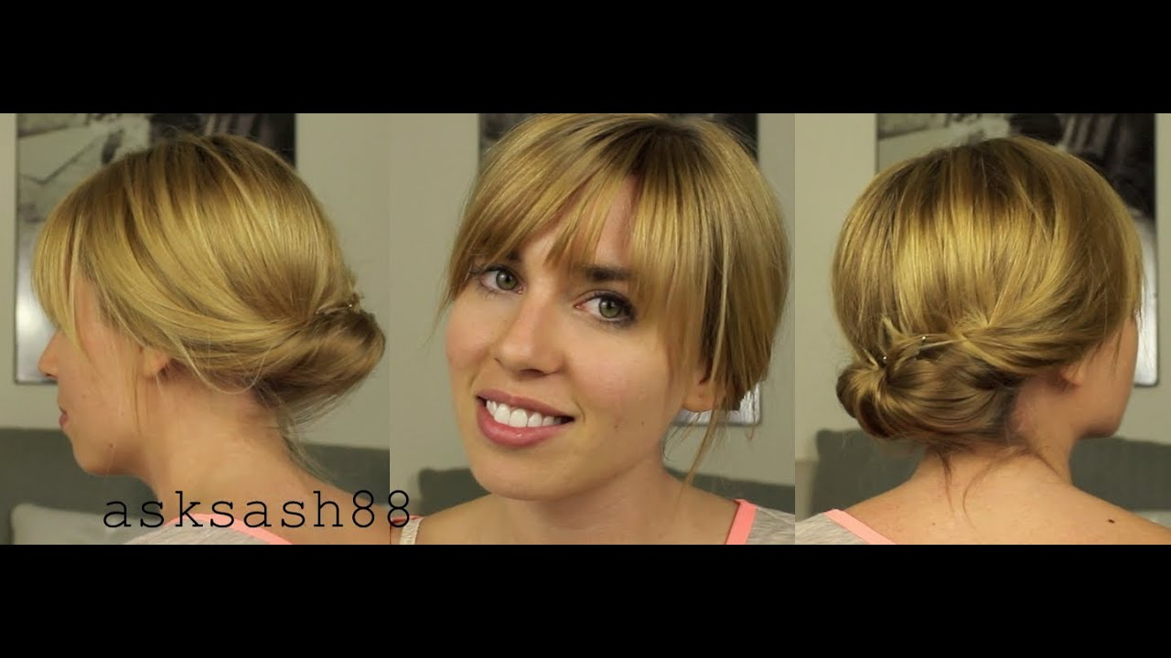 Tucked Bun / Chignon   Easy, Quick Everyday Hairstyles For Long Hair U0026  Hairstyles For Medium Hair
