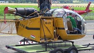 1150er Huge Lama SA 315 B RC Turbine Model Helicopter Vario - Francis Paduwat -