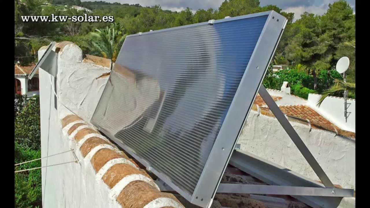 Panel Y Colector Solar De Aire Kw Ecoair Youtube