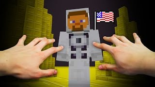 REALISTIC MINECRAFT - STEVE GOES TO THE MOON! 🚀