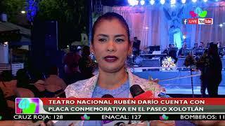 Teatro Nacional Rubén Darío cuenta con placa conmemorativa en el Paseo Xolotlán