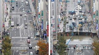 Япония: огромный провал в центре Фукуоки заделали за неделю (новости)