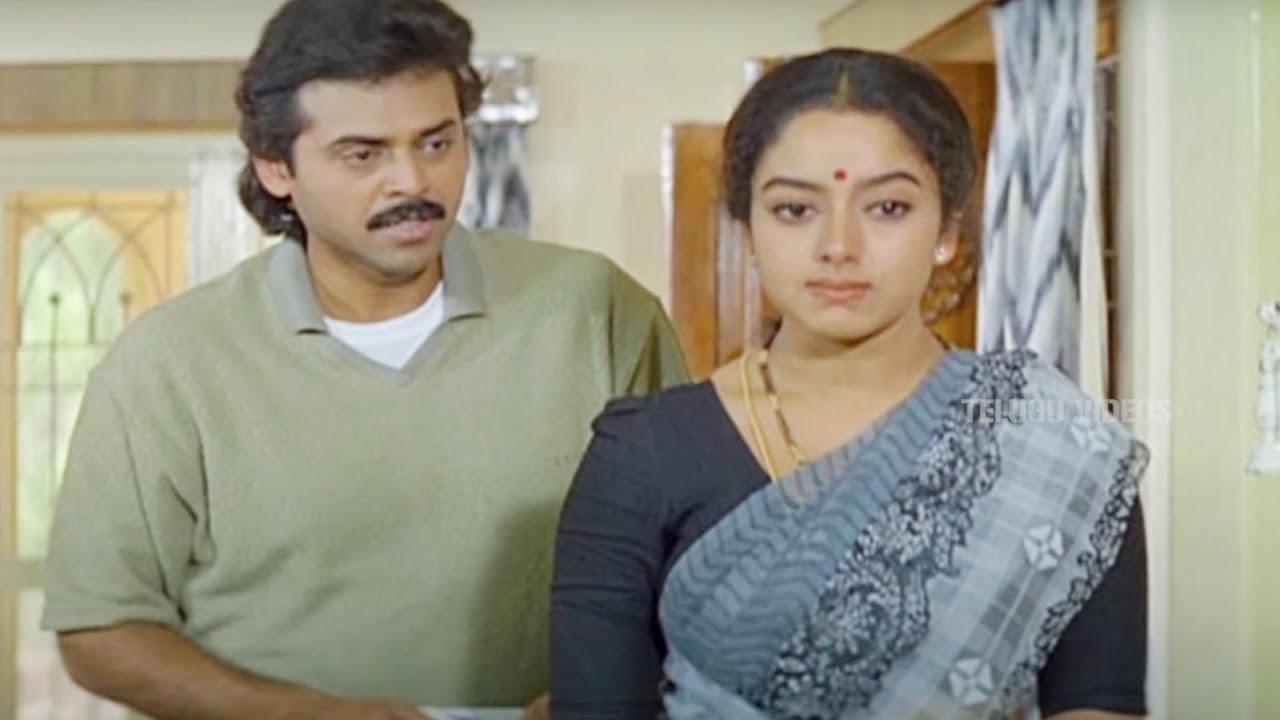 Venkatesh & Soundarya Emotional Scene   Telugu Movie Scenes   Telugu Videos