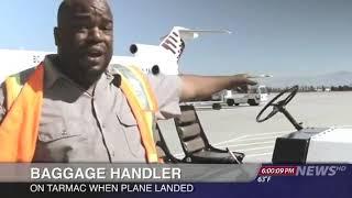 Uçak iniş hatası veee... #baggage #baggagehandler