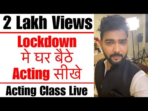 Acting Class Live by Vinay Shakya at Lets Act Actor Studio