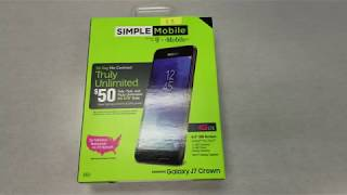 Samsung Galaxy J7 Crown Unboxing and Mini Review For Simple Mobile