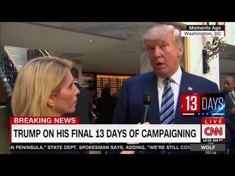 "10/26/16 Donald Trump destroys CNN MUPPET Dana Bash admits  ""You're Winning in VOTES but"""