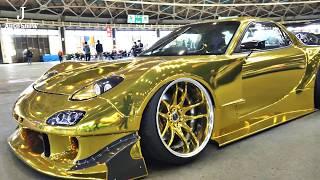 (4K) Golden Mazda RX-7 FD3S modified マツダrx7 ゴールド - Nagoya AUTO Trend 2020
