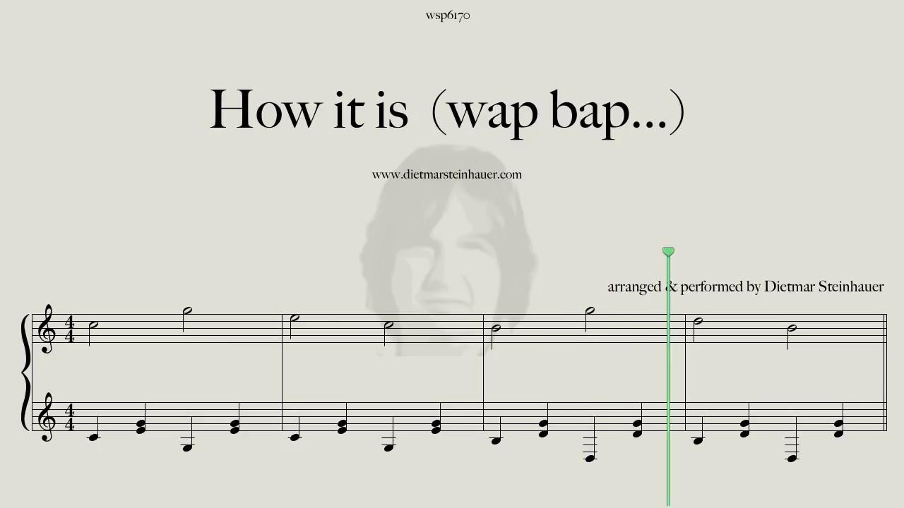 how it is wap bap bibis song for easypiano