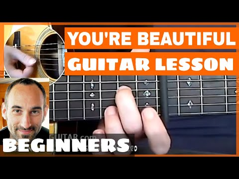 You're Beautiful Guitar Lesson - part 1 of 4