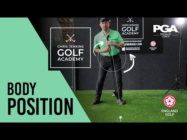 Perfect Golf Body Position on the Tee - DONT MAKE THESE MISTAKES