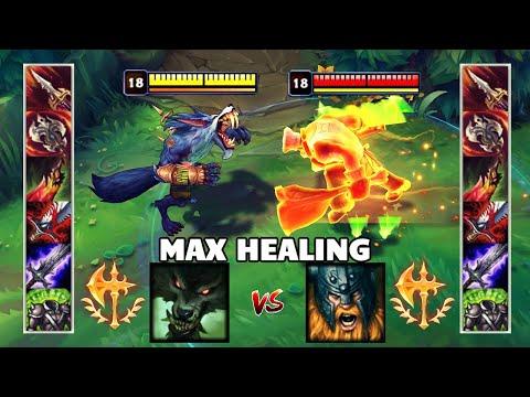 MAX HEALING OLAF Vs MAX HEALING WARWICK U0026 Best Moments!