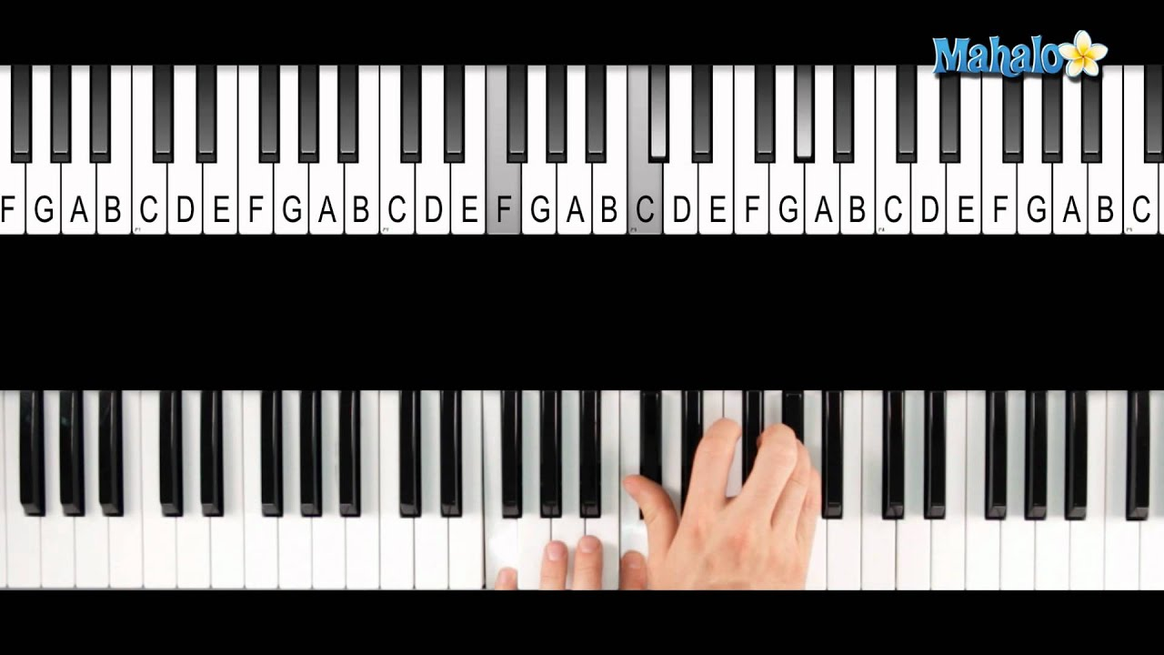 D Flat Chord Piano How to Play a D-flat M...