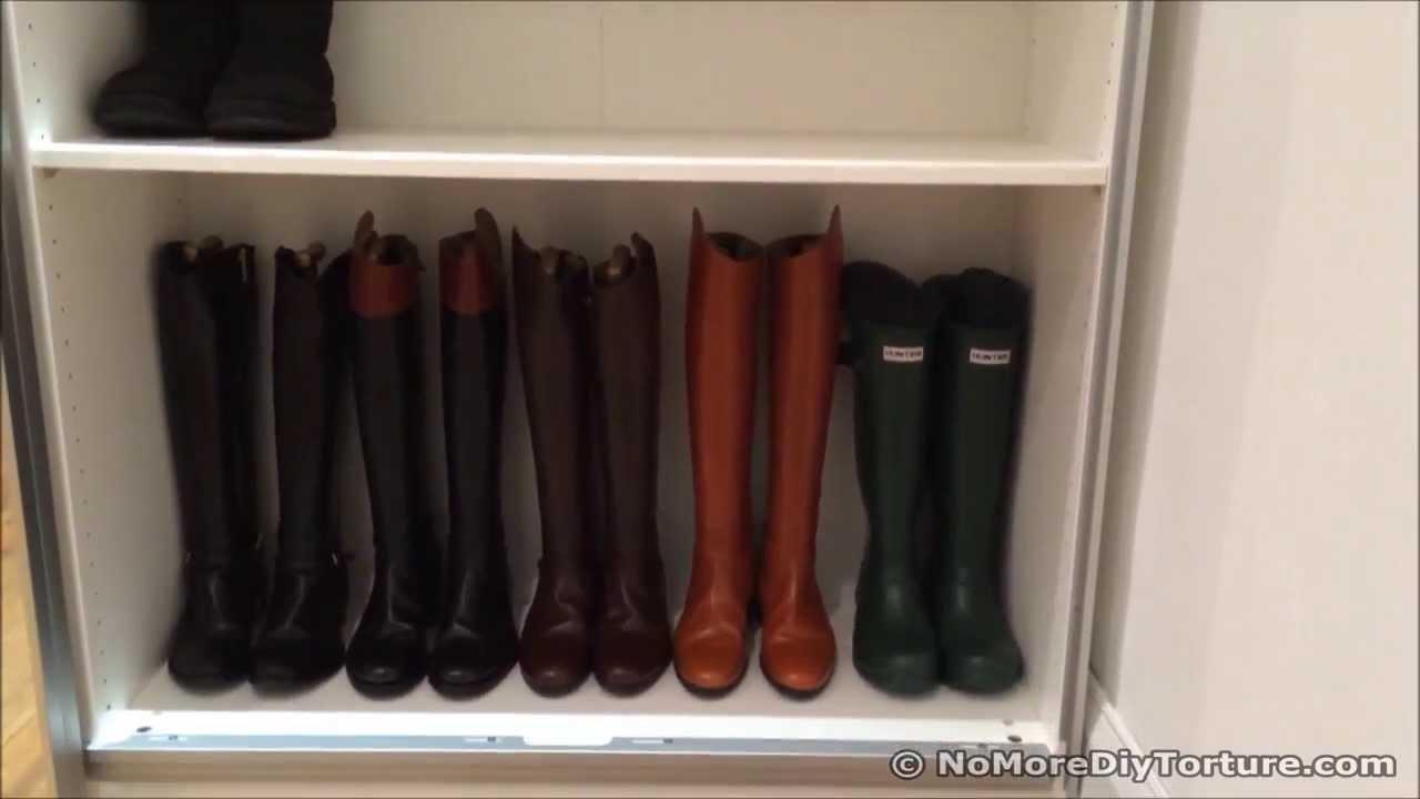 IKEA Sliding Door Wardrobe  Shoe Organizer  YouTube