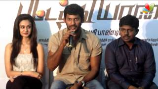 Vishal : Santhanam should pay Tax | Pattathu Yaanai Press Meet | Aishwarya Arjun | Songs