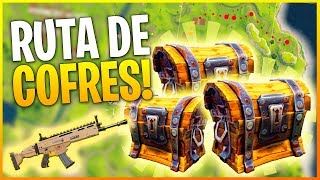 FORTNITE Battle Royale: LA MEJOR RUTA DE COFRES ¡LOOT A TOPE! | Makina
