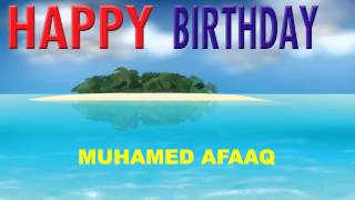 Muhamed Afaaq   Card Tarjeta - Happy Birthday