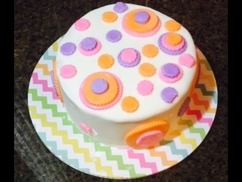 Simple Fondant Cake Decorating - YouTube