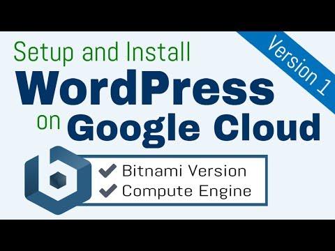 Setup and Install WordPress on Google Cloud Platform (Bitnami)