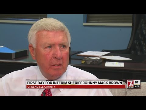 Sheriff Brown starts first full day as interim Greenville Co. Sheriff