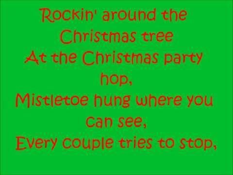 Rockin' around the Christmas tree-Miley Cyrus Lyrics