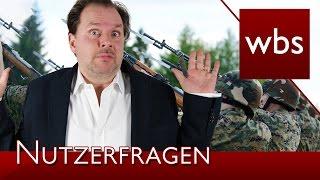 Nutzerfragen: Wann dürfen Soldaten Befehle verweigern? | Rechtsanwalt Christian Solmecke