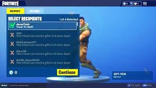 FORTNITE GIFTING SYSTEM REAL FOOTAGE! HOW TO SEND GIFTS IN FORTNITE GIFTING SYSTEM RELEASE DATE!