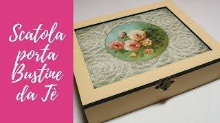 Tutorial: Scatola Porta Bustine Da Tè In Pizzo E Decoupage (tea Bags Holder Box) [eng-sub]