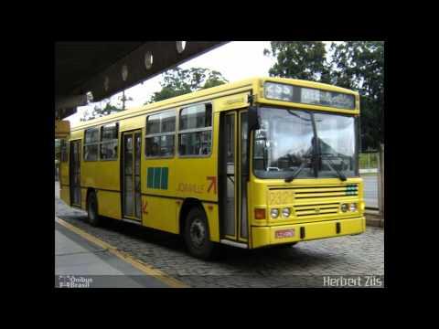 alguns onibus que fazem ou fizeram parte do transporte publico em joinville sc parte 1