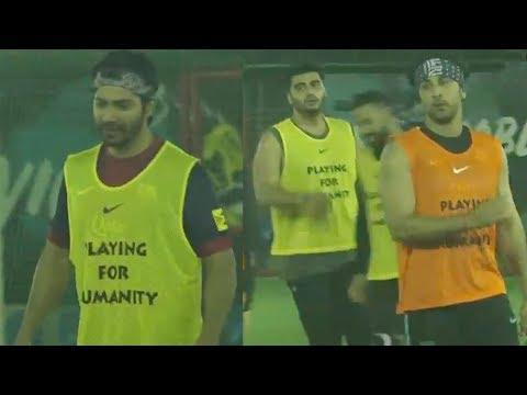 Varun Dhawan, Ranbir Kapoor & Arjun Kapoor At A Charity Football Match 2018