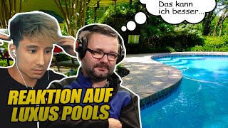 Wir REAGIEREN auf LUXUS POOLS (feat. Pool Profi Leif)