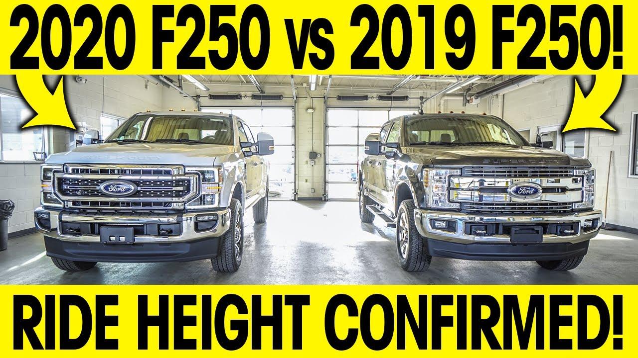 2020 Ford F250 Vs 2019 F250 Ride Height Measured Confirmed Super Duty Showdown Youtube