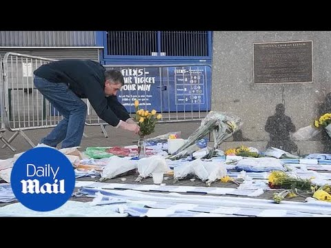 Floral tributes laid for Emiliano Sala at Cardiff City's ground