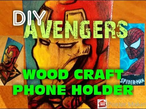 DIY-AVENGERS/ IRON MAN- HAND MADE PHONE HOLDER