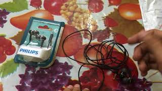 Budget Earphone Philips She 1455 BK unboxing and review