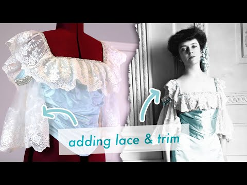 Making An Edwardian Ball Gown: Decorating The Bodice - Sewing Alice Roosevelt's 1903 Gown Pt 4