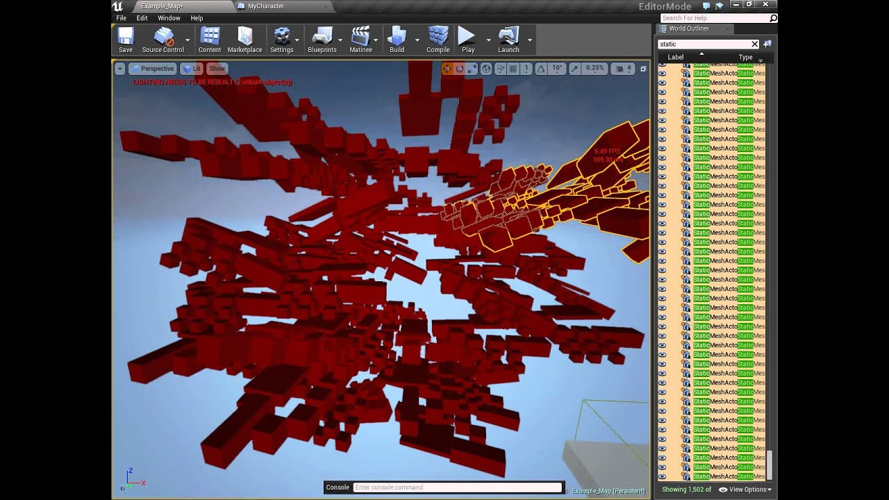 UE4 Instance Static Mesh Editor Feature