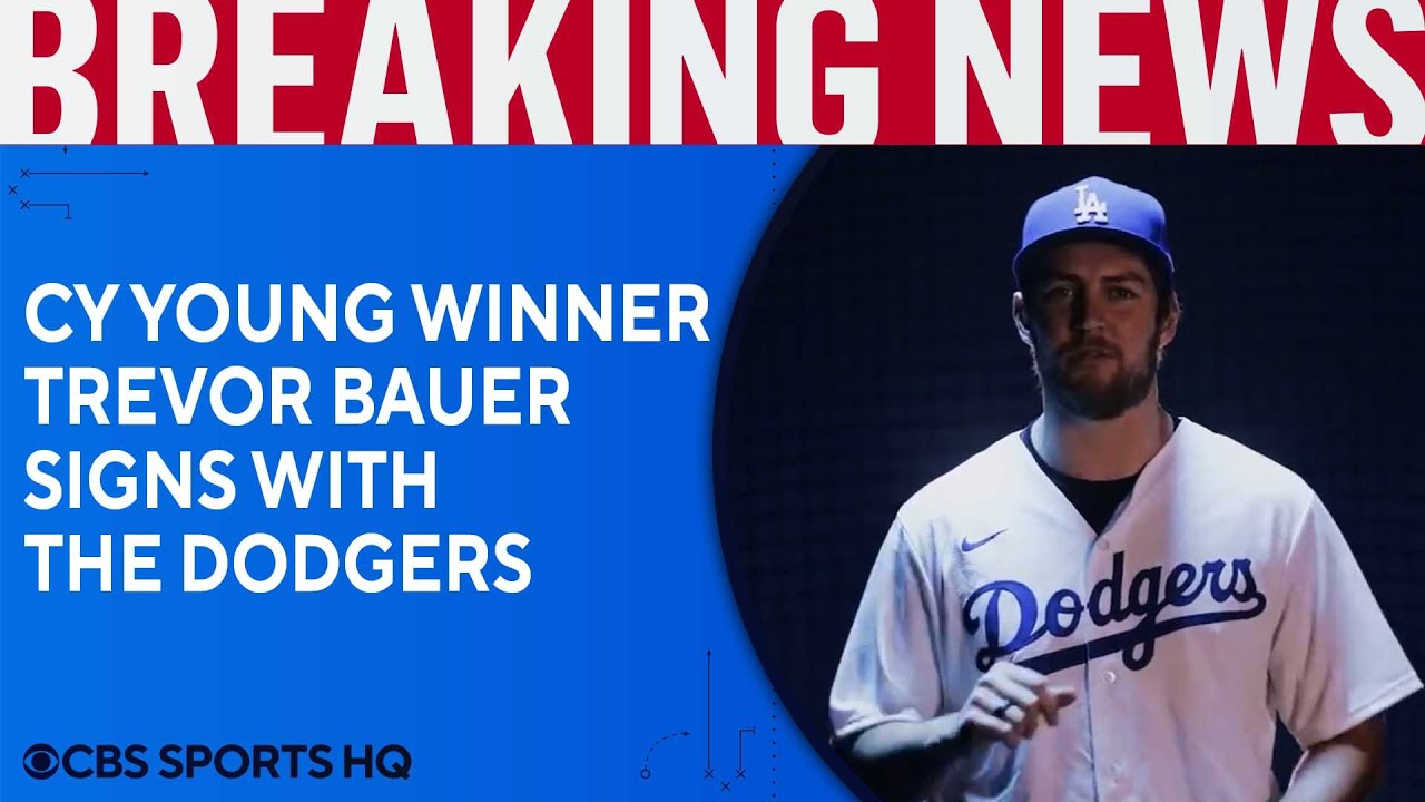 Trevor Bauer signs with Dodgers