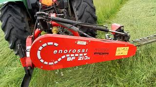 Mowing Hay with our Enorossi(a closer look at the scissor cut)