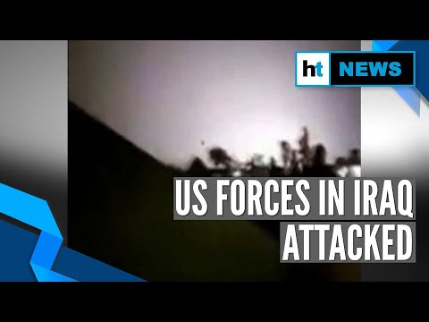 Watch: Iran fires ballistic missiles on Iraqi air bases hosting US military forces