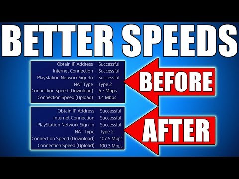 HOW TO DOWNLOAD FASTER ON PS4 - Get Faster Internet, Fix Slow Internet Speeds & Make PS4 Run Faster