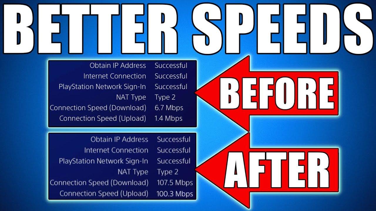 ps4 slow download speed fix