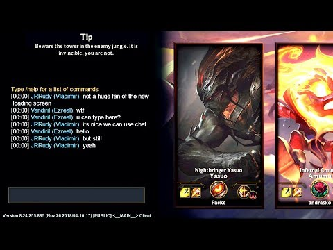 CHAT IN LOADING SCREEN?! Riot New Technology 😆