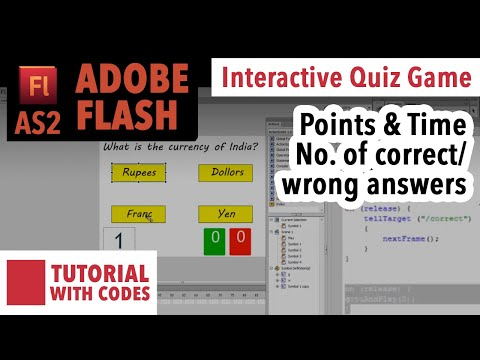 Adobe Flash Quiz Game with Points and Time in AS2 | Download