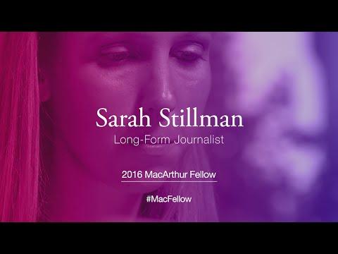 Long-Form Journalist Sarah Stillman | 2016 MacArthur Fellow