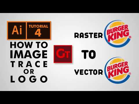 How to Image Trace or Logo in Adobe illustrator Urdu / Hindi - Tutorial 4 thumbnail